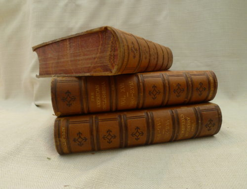 Books, Antique Marbled Page Edges, Leatherbound $80 Set of 7