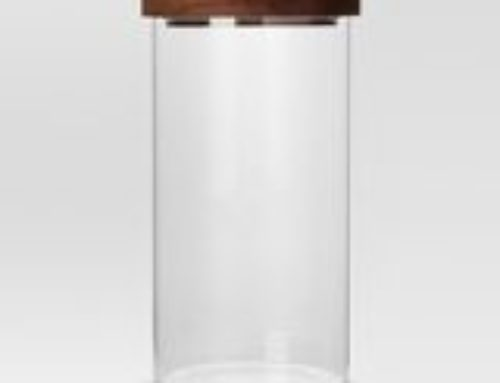 Canister set, clear glass with wood stopper tops $20 set