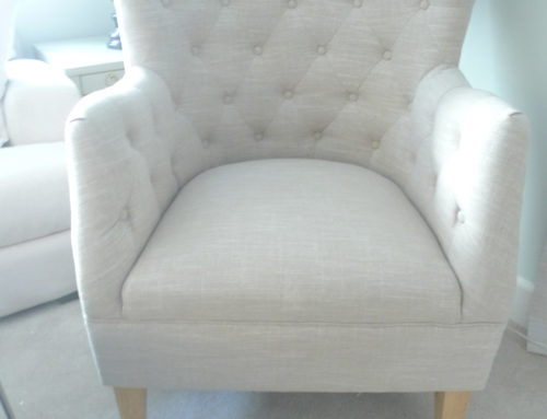 Wing Chair, Transitional Linen Blend Natural $350