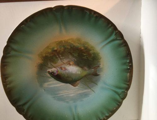 Antique Fish Plate, Royal Bonn Circa 1852 $75