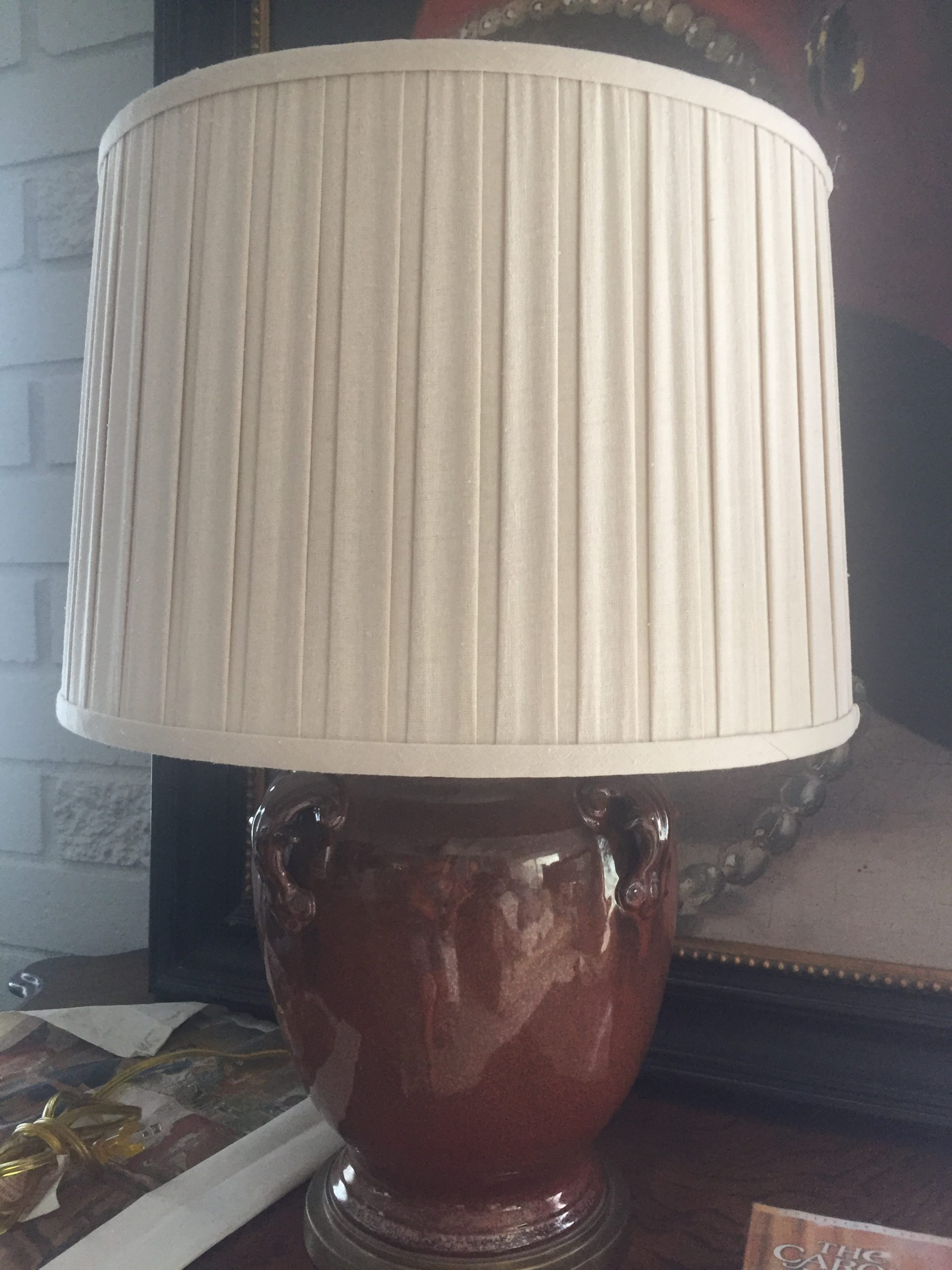 Lamp, Table Ribbed Metal Urn Style, Large, set of Two $110