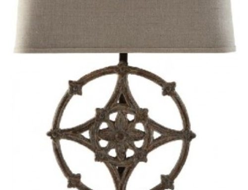 Lamp, Table Rustic Iron with Shade $75