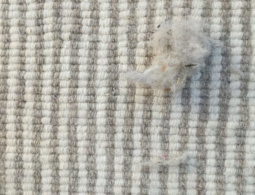 Rug, 100% wool Light Gray and Off White Mini Stripe 9′ x 12′ $500