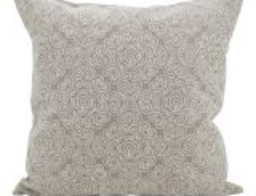 Pillow, Traditional Lt Gray/Cream  Embroidery $15